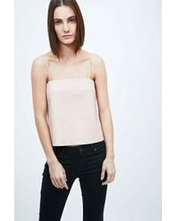 VEDA - Lyell Leather Cami In Pink - Lyst