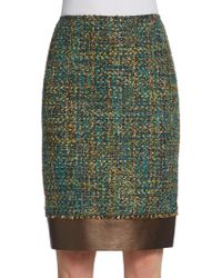 Lafayette 148 New York Aviana Tweed Straight Skirt - Lyst