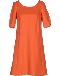 CO|TE | Short Dress orange - Lyst