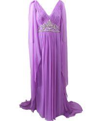 Marchesa Chiffon Caftan purple - Lyst