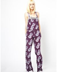 House Of Holland Silk Dungarees - Lyst