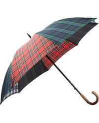 Barneys New York - Tartan Stick Umbrella - Lyst
