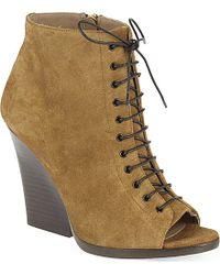 Burberry Virginia Peep Toe Wedge Heels - For Women brown - Lyst