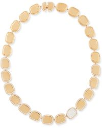 Roberto Coin 18k Rose Gold Diamond African Jade Collection Necklace - Lyst