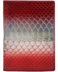 Raf Simons - Mens Printed Leather Wallet - Lyst