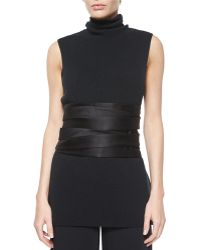 The Row - Inton Duchesse-satin Belt - Lyst