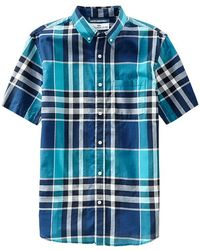Old Navy Slimfit Madras Shirts - Lyst
