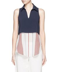 Elizabeth and James | 'rania' Stripe Silk Layered Top | Lyst