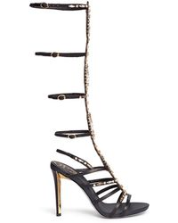 Rene Caovilla Jewelled Leather Gladiator Sandals - Lyst