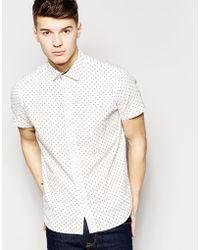 Brave Soul Short Sleeve Shirt In Spot - Lyst
