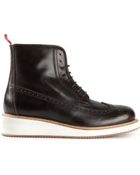 Moncler Brogue Ankle Boots - Lyst