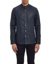 John Varvatos Coated Shirt-Jacket - Lyst