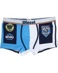Diesel Damien Blue Print Brave Boxer blue - Lyst