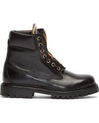 Balmain Black Leather Taiga Ranger Boot - Lyst