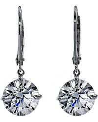 Carat* - Euroback 2ct Round Drop Earrings - Lyst