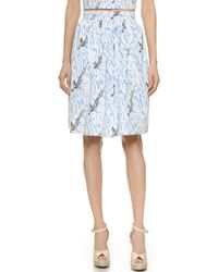 Carven Printed Skirt - Multi - Lyst