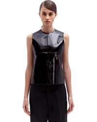 Paco Rabanne Womens Patent Leather Top - Lyst