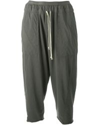 DRKSHDW by Rick Owens Dropped Crotch Cropped Trousers - Lyst
