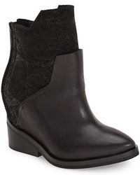 CA by Cinzia Araia - Leather and Neoprene Ankle Boots - Lyst