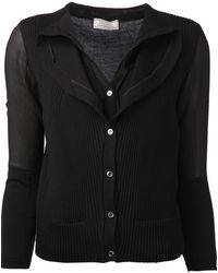 Nina Ricci Ribbed Knit Blouse - Lyst