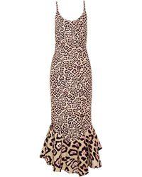 Givenchy - Fishtail-hem Jaguar-print Midi Dress - Lyst