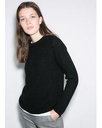 Mango Chunkyknit Sweater - Lyst