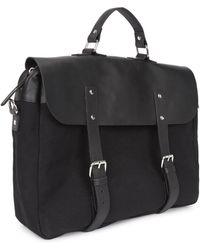 Enter # - Black Canvas And Leather Briefcase - Lyst