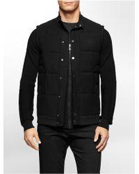 Calvin Klein | White Label Premium Slim Fit Zip Baseball Sweater | Lyst