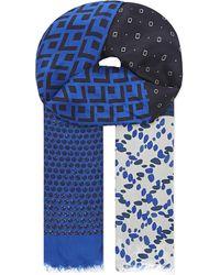 Paul Smith Black Label - Multi-patterned Wool-silk Scarf - Lyst