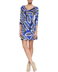 Diane von Furstenberg Riviera Three-Quarter-Sleeve Dress - Lyst
