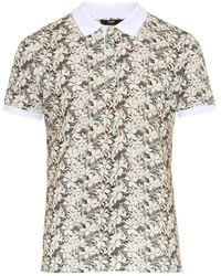 Fendi Floral-Print Cotton-Piqué Polo Shirt - Lyst