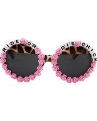 Rad & Refined - Ride Or Die Bead & Rose Tortoise Black Sunglasses - Lyst