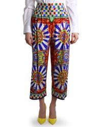 Dolce & Gabbana | Carretto Siciliano Capri Trousers | Lyst