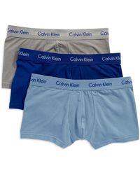 Calvin Klein Stretch Low Rise Trunk Set - Lyst