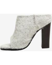 Tibi Leona Wool Sandal Slide Grey - Lyst