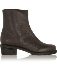 Giuseppe Zanotti Kurt Textured-leather Ankle Boots - Lyst