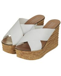 Topshop Workit Wedge Sandals - Lyst