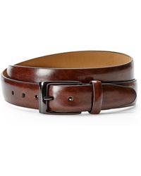 Dockers Brown Leather Belt - Lyst