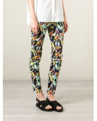 Kenzo 'Torn Flowers' Skinny Jeans - Lyst