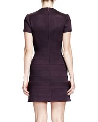 Alexander McQueen Shortsleeve Flappocket Seamed Dress - Lyst