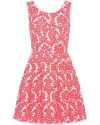 Vivetta Brocade Hollis Dress pink - Lyst