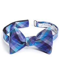 John W. Nordstrom - Plaid Silk Bow Tie - Purple - Lyst