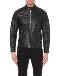 Diesel Monike Leather Jacket - For Men - Lyst