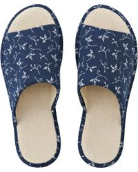 Uniqlo - Denim Slippers - Lyst