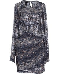 Isabel Marant Short Dress gray - Lyst