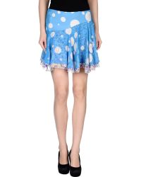 Versus  Mini Skirt blue - Lyst