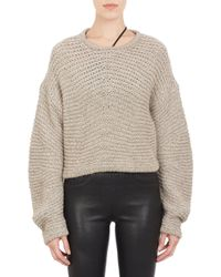 Helmut Lang Chunky-Knit Cropped Sweater - Lyst