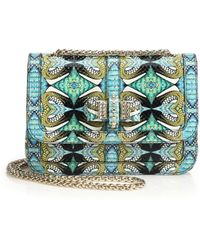 Christian Louboutin Sweet Charity Multicolor Abstract Python Shoulder Bag multicolor - Lyst