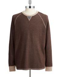 Tommy Bahama Brown Reversible Sweatshirt - Lyst