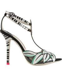 Sophia Webster White Flamingo Sandals - Lyst